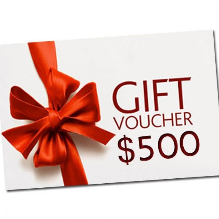 Five Hundred Dollar Gift Voucher