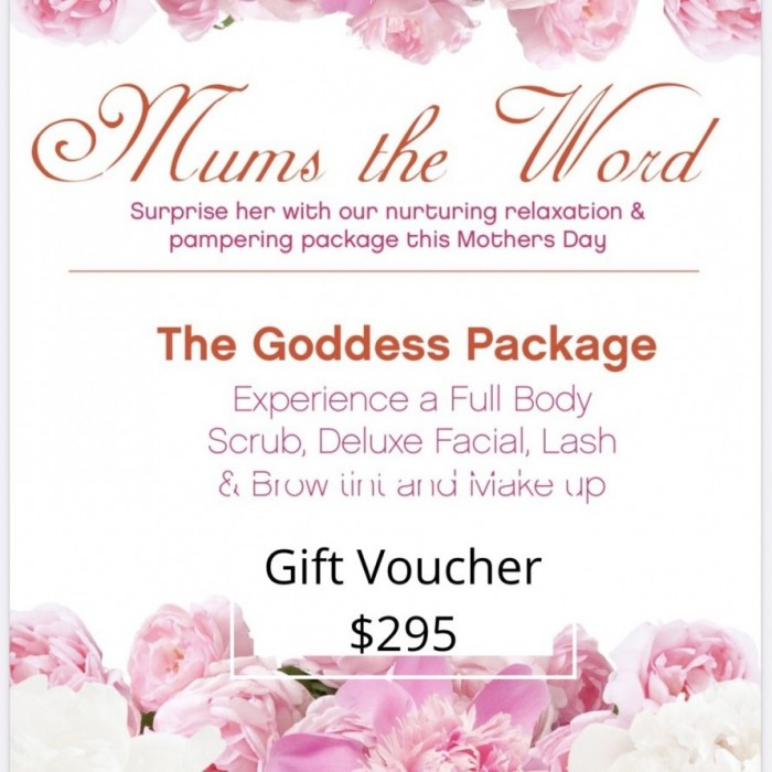 Our Goddess Package Mother's Day Gift Voucher